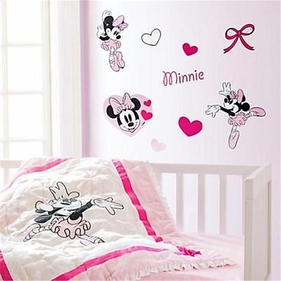 Disney Baby, Minnie Mouse Nursery Wall Decals, 52 Reusable Decals, New in Box