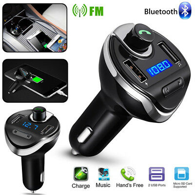 Wireless Bluetooth Handsfree Car FM Transmitter Radio Adapter Kit 2 USB Charger