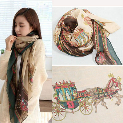 Fashion Women Lady Girls Soft Long Carriage Scarf Large Wrap Shawl Scarves New T