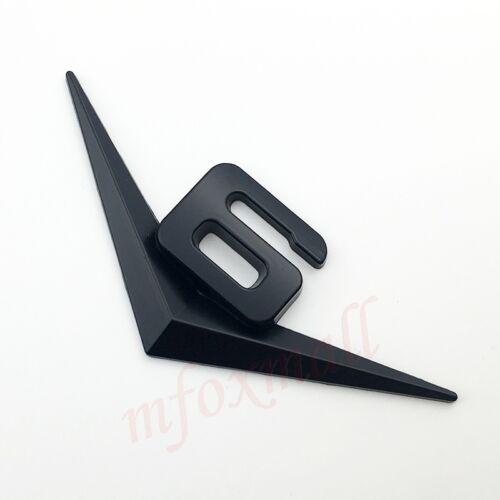 Black Metal V6 3D Car Parts Emblem Badge V 6 Sticker Decal Trunk Side Logo Trim