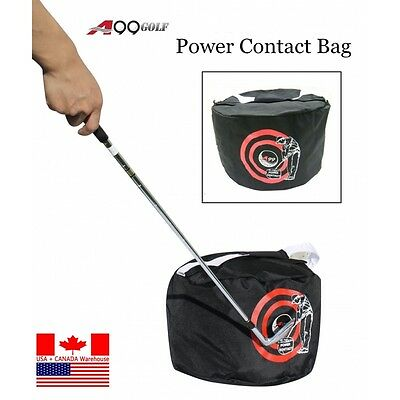 A99 Golf Swing Training Aids Golf Impact Contact Power Smash Bag Black