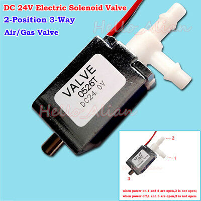 Dc 24v 2-position 3-way Mini Electric Solenoid Air Valve Flow Control Switch