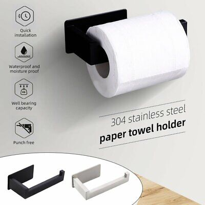 Stainless Steel Bathroom Toilet Roll Paper Holder Hook Wall Accessories -