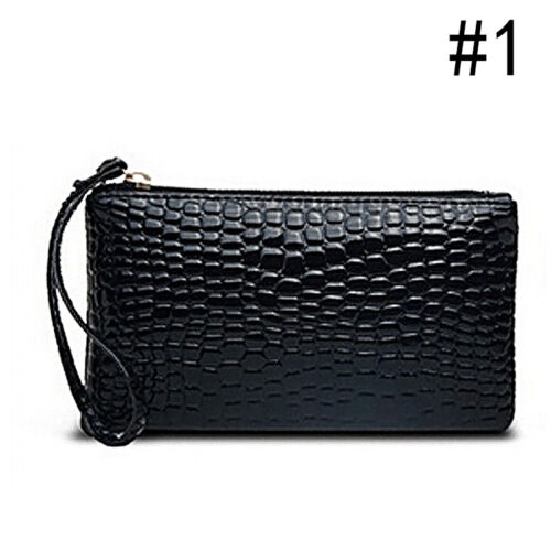 Women Fashion Bag Crocodile Leather Clutch Messenger Handbag Coin Purse Wallet
