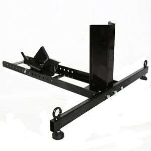 Pro Motorcycle Stand Wheel Chock Adjustable Upright 1800lb Capac