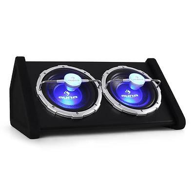 Car Subwoofer Speaker Audio Double LED Light Passive 2x 10 Inch Bass Box 1600W