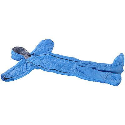 Schlafsack mit Armen und Beinen, Größe M (bis 180 cm), blau