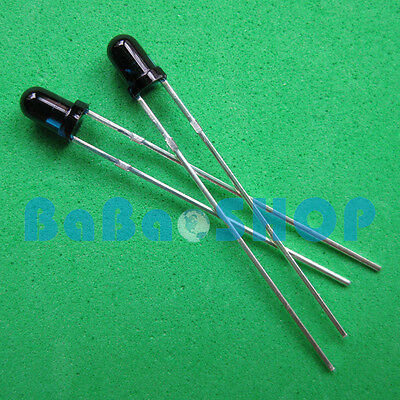 20501001000pcs 3mm 940nm Ir Infrared Receiver Diode Photodiode Led Lamp