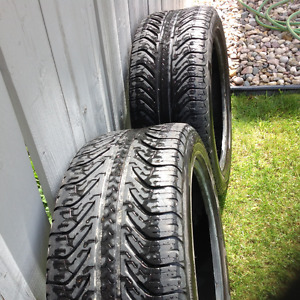 """2 - 18"""" Used Tires 235 / 50 / ZR18 97Y M & S"""
