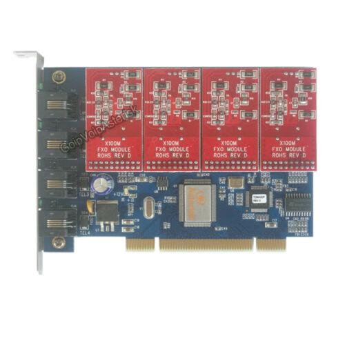 TDM400P 4 FXO Asterisk card PCI card for trixbox freepbx elastix voip pbx