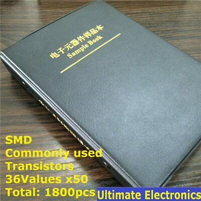 36 Kinds X50 Commonly Used Smd Transistor Assortment Kit Assorted Sample Book