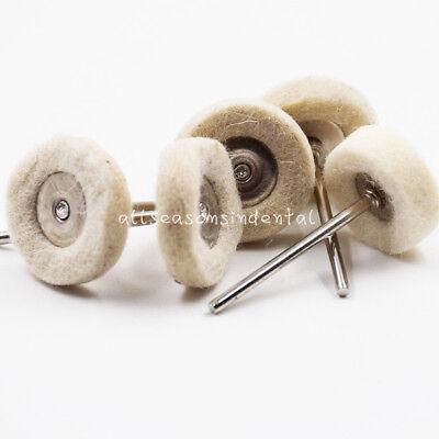 10 Pcs Wool Polishing Buffing Wheels Brushes Burs For Dental Rotary Tools