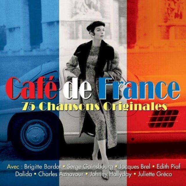 3 CD BOX CAFE DE FRANCE CHANSONS ORIGINALES BARDOT BREL PIAF AZNAVOUR GAINSBOURG
