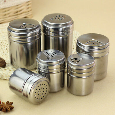 BBQ Stainless Steel Cruet Salt Pepper Seasoning Condiment Spice Shaker Bottle ()