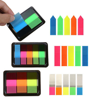 Colorful Fluorescence Sticky Notes Memo Flag Bookmark Marker Tab Sticker 125x Colored Sticky Notes