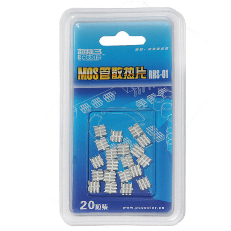PcCooler OC3 RHS-01 B30 MOSFET SILVER ALUMINIUM HEATSINK RAMSINK PACK of 20