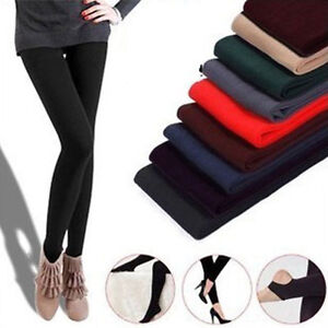 Fashion-Women-Warm-Winter-Thick-Footless-Skinny-Slim-Leggings-Stretch-Pants-BY