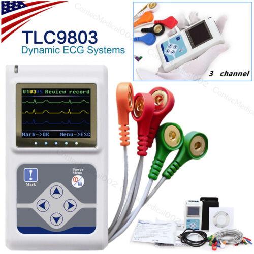 Dynamischer 3-Kanal-EKG-Holter, EKG-Gerät, EKG-Elektrokardiograph, Software USB