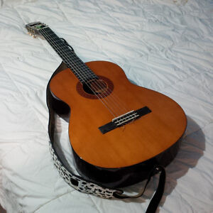 Classical Guitar with Strap, Case and Tuner