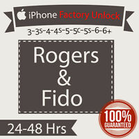 Rogers/Fido iPhone Factory Unlock 6S Release Special - $13!!