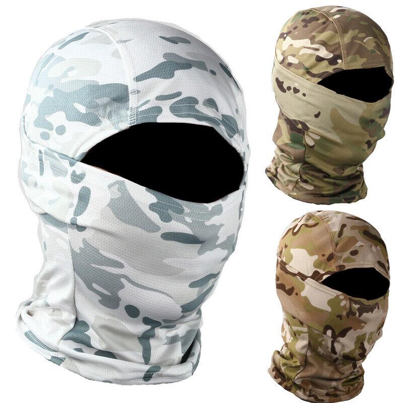 Camo Balaclava Hood Military Tactical Helmet Liner Gear Full Face Mask Clothing