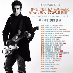 ROW 9 FLOOR - John Mayer Tickets - Toronto [SOLD OUT]