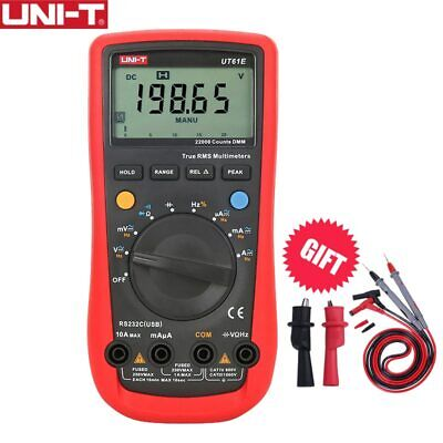 Ut61e True Rms 22000 Auto Range Lcd Digital Multimeter Dmm Rs232 Usb