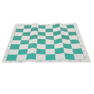42*42cm Portable Chess Board PVC Folding Green & White Kids Educational Toys LS ()