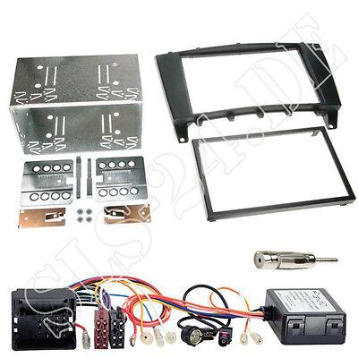 Mercedes C-Klasse W203 CL203 ab04 2-DIN Radioblende+CAN-BUS Adapter Antenne Set