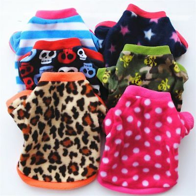 - Small Pet Dog Warm Sweater Shirt Coat Puppy Soft Fleece Pullover Clothes Apparel