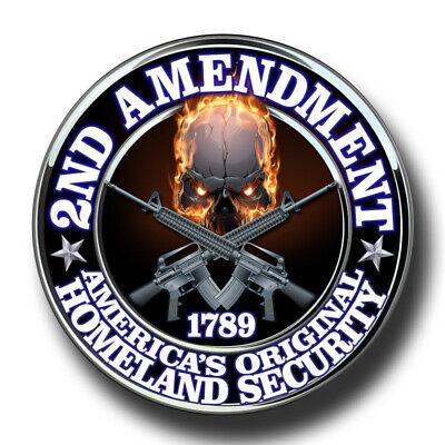 2ND AMENDMENT GUN RIGHTS SKULL CAR LAPTOP PHONE WALL LOCKER STICKER 4
