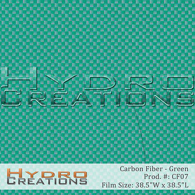 Hydrographic Film Hydro Dipping Water Transfer Green Carbon Fiber 38.5 X 38.5