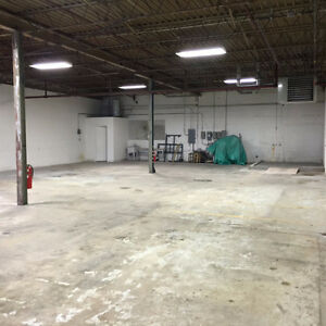 Industrial and commercial space for rent.