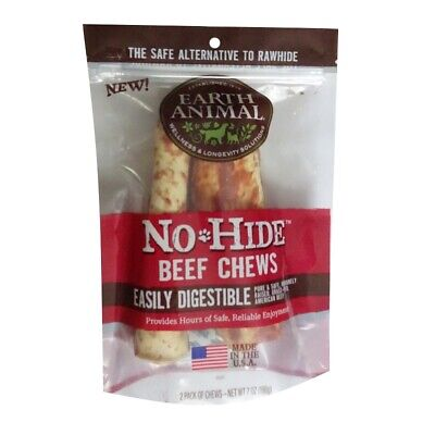 EARTH ANIMAL NO HIDE BEEF CHEW DOG TREATS 2 PACK DIGESTIBLE 7 -