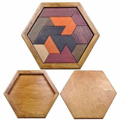 Wooden Puzzle Geometric Shape Board Toy Kids Children Educational Learn Play New ()