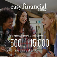 Easyfinancial - loans to $15,000 with rates starting at 29.99%