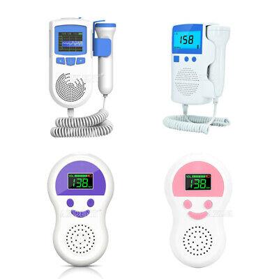 Prenatal Fetal Doppler Baby Heartbeat Monitor Ultrasonic Detector 2models Ad51a