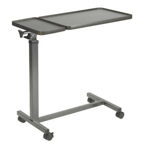 Drive Medical Multi-Purpose Tilt-Top Split Overbed Table w/Tray