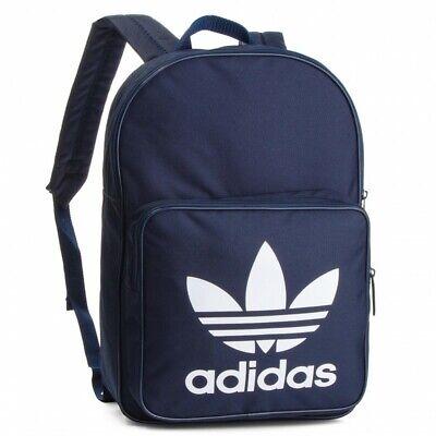 Adidas Originals Trefoil Backpack Navy Blue Classic Rucksack Bag School/Work