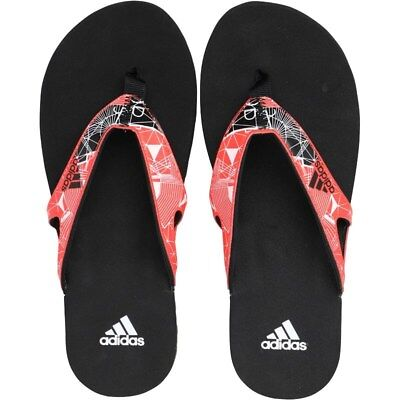 Adidas Calo 5 Flip Flops Pool Beach Sandals Black/Red Sizes 7 8 9 10 11 12