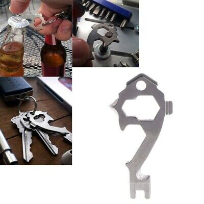 20 in1 Key Chain Stainless Keychain Keyring Pocket Bottle Opener EDC Multi Tool