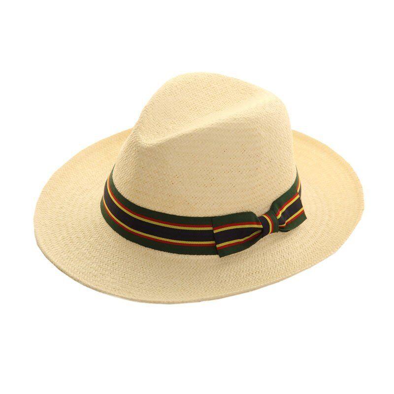 Unisex Panama Summer Straw Fedora Trilby Hat Foldable Hat