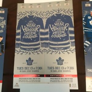 Sharks vs Leafs Tuesday, December 13 REDS