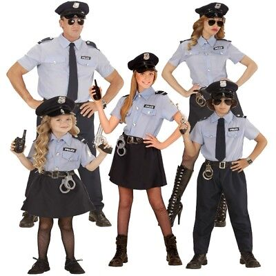POLIZIST POLIZISTIN Familien Polizei Kostüm Herren Damen Mädchen Jungen AUSWAHL (Mädchen Polizei Kostüme)
