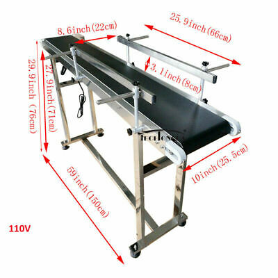 Conveyor Belt 110v Powered Pvc Belt 59x 7.8 Stainless Conveyor Machine Sale