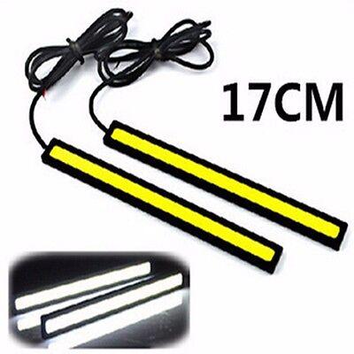 2x 17cm LED Daytime Running Light DRL COB Lamp  Bar Fog Car 12v  Waterproof