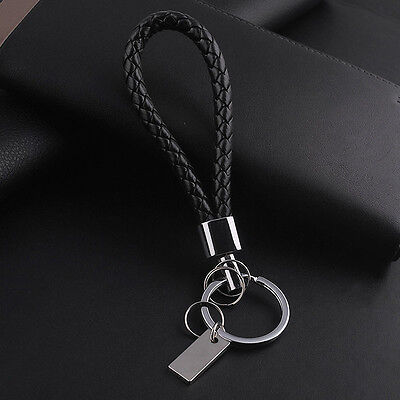 Fashion Men Women Leather Key Chain Ring Keyfob Car Keyring Keychain Gift neu