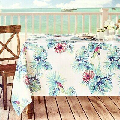 rectangle Tablecloth indoor out spill proof hawaiian luau - Luau Table Cloths