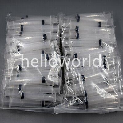 100 Pcs Disposable Dental Irrigation Feeding Syringe Curved Plunger Tip Fit 12cc