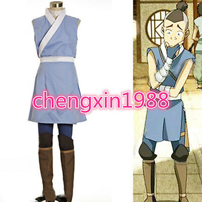 Avatar The Last Airbender Cosplay Sokka Cosplay Costume Set Halloween CostumeV11 (Airbender Halloween Costume)